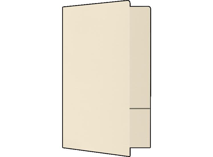 Legal Size Folders - Standard Two Pockets Natural Linen