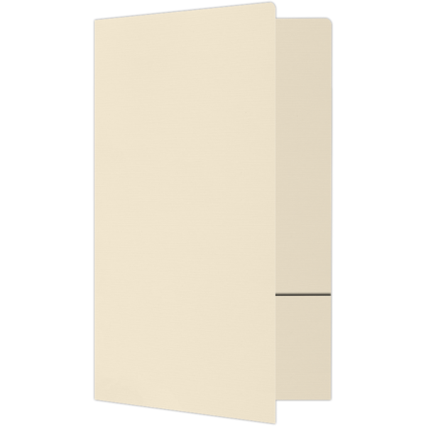 Legal Size Folders - Standard Two Pockets Natural Linen
