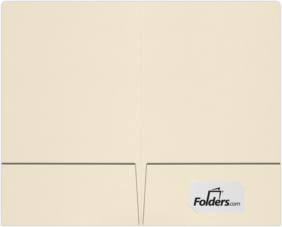 9 x 14 1/2 Legal Size Folders - Standard Two Pockets Natural Linen