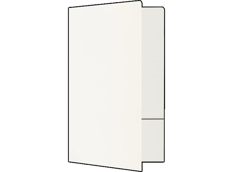 Legal Size Folders - Standard Two Pockets White Linen