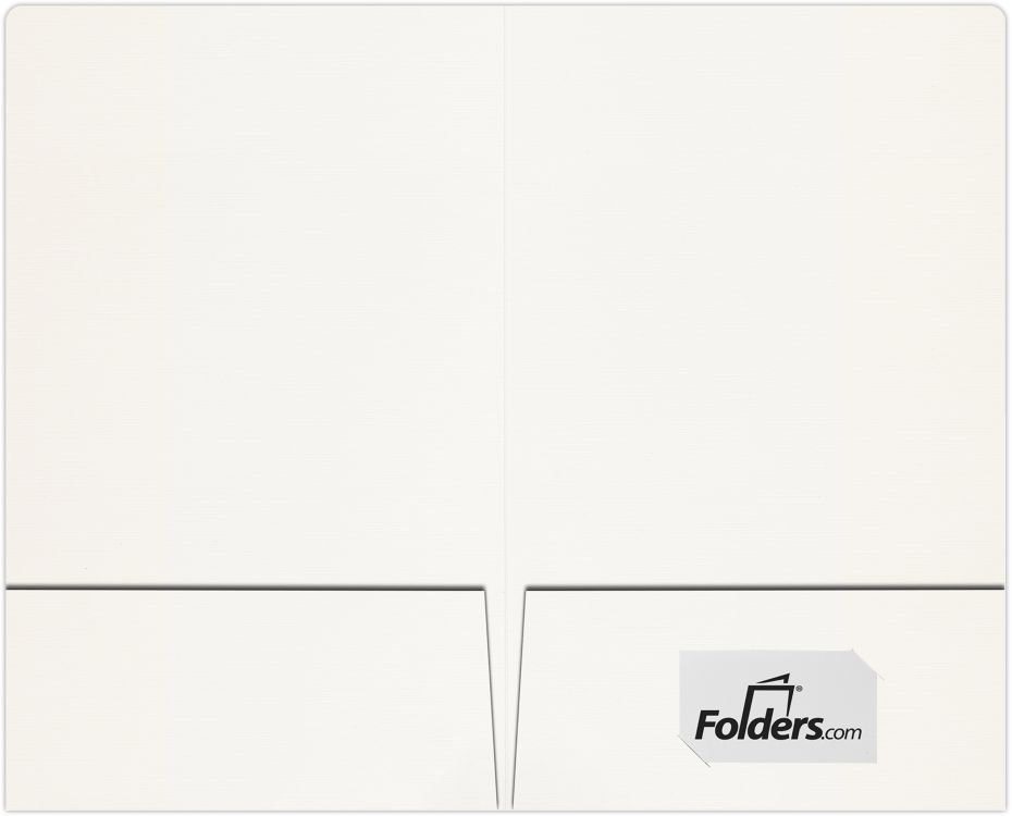 9 x 14 1/2 Legal Size Folders - Standard Two Pockets White Linen