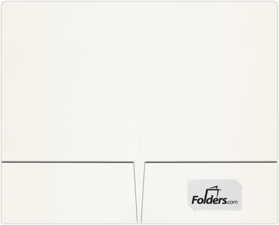 9 x 14 1/2 Legal Size Folders White Linen