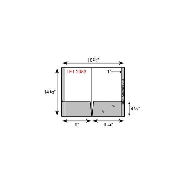 Legal Size Folders - Two Pocket w/ Full Length Tab
