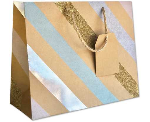 Large (12 1/2 x 10 x 5) Gift Bag Party Stripe