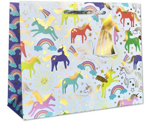 Large (12 1/2 x 10 x 5) Gift Bag Unicorn