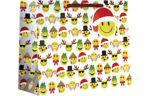 Large (12 1/2 x 10 x 5) Gift Bag Emoji Christmas