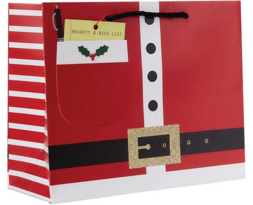 Large (12 1/2 x 10 x 5) Gift Bag Santa's List