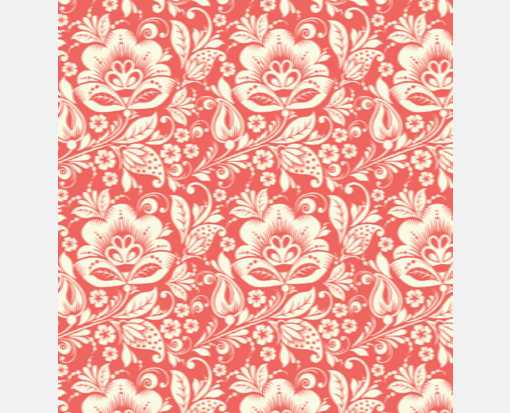 A7 Drop-In Envelope Liners (6 15/16 x 6 5/8) Red Floral