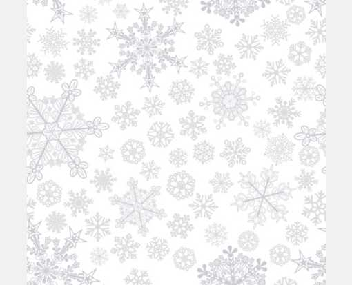 A7 Drop-In Envelope Liners (6 15/16 x 6 5/8) Gray Snowflakes