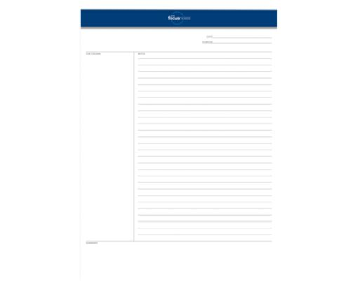 8 1/2 x 11 3/4 FocusNotes Legal Pads - Cornell Ruled White