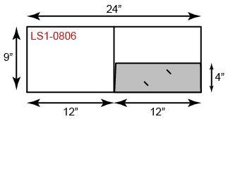 "9"" x 12"" Presentation Folders - Landscape Orientation w/ One Pocket (Right)"