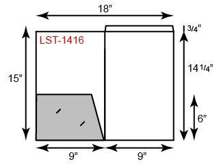Legal Size Folders - One Pocket w/ Fold Down Legal Tab