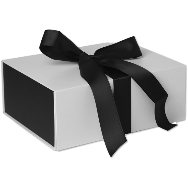 Large Ribbon Tie Box (10 1/2 x 4 x 8 1/4) Sophisticate White