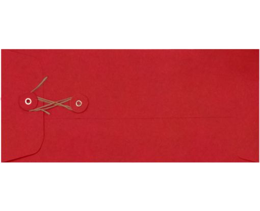 #10 Button & String Envelopes (4 1/8 x 9 1/2) Ruby Red