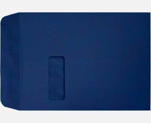 9 x 12 Open End Window Envelopes Navy