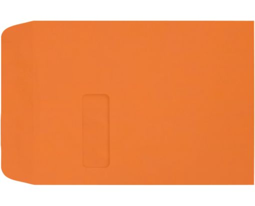 9 x 12 Open End Window Envelopes Mandarin