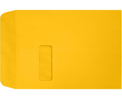 9 x 12 Open End Window Envelopes Sunflower