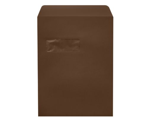 9 x 12 Open End Window Envelopes Chocolate