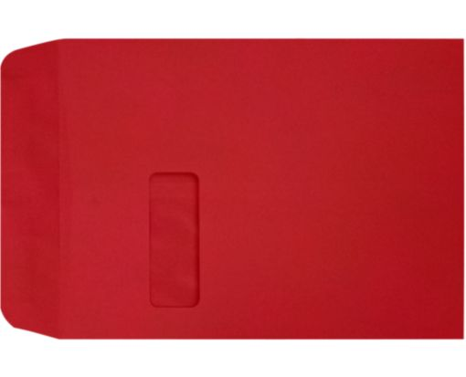 9 x 12 Open End Window Envelopes Ruby Red