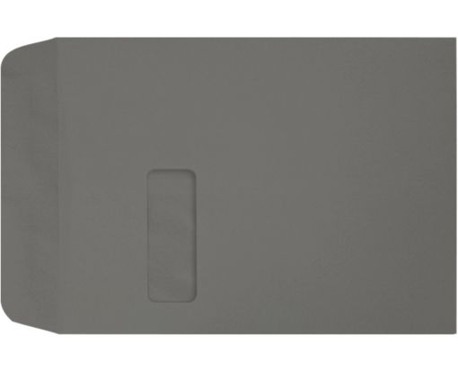 9 x 12 Open End Window Envelopes Smoke