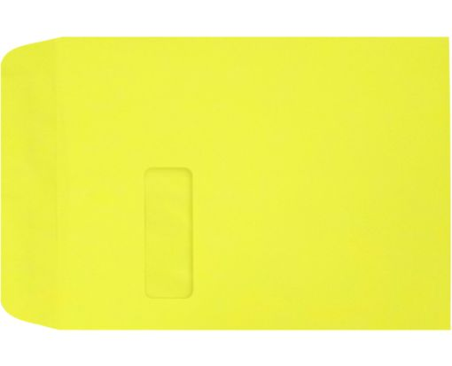9 x 12 Open End Window Envelopes Citrus