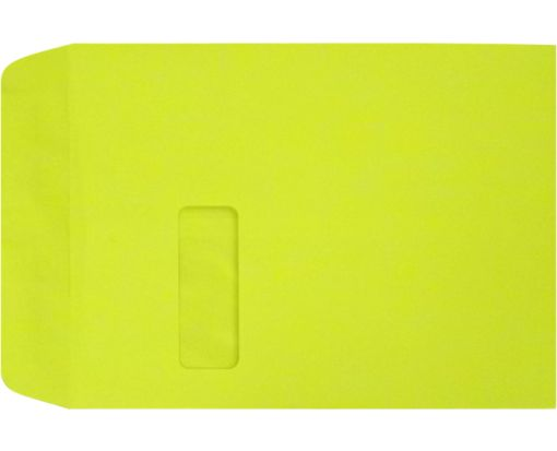 9 x 12 Open End Window Envelopes Wasabi