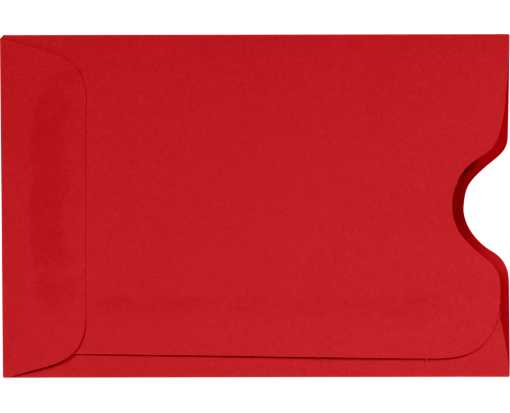 Credit Card Sleeve (2 3/8 x 3 1/2) Ruby Red