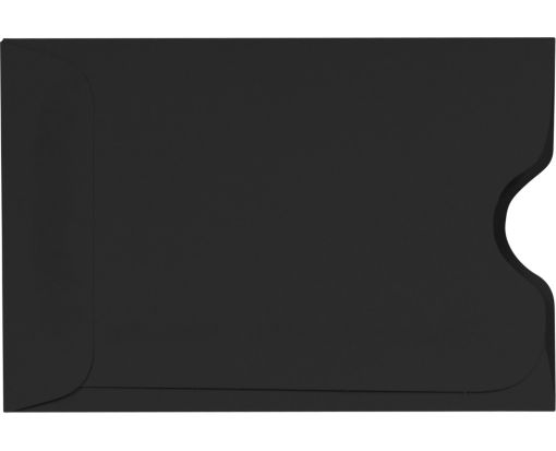 Credit Card Sleeve (2 3/8 x 3 1/2) Midnight Black