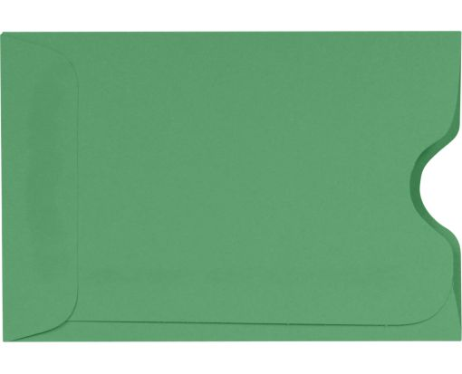 Credit Card Sleeve (2 3/8 x 3 1/2) Holiday Green