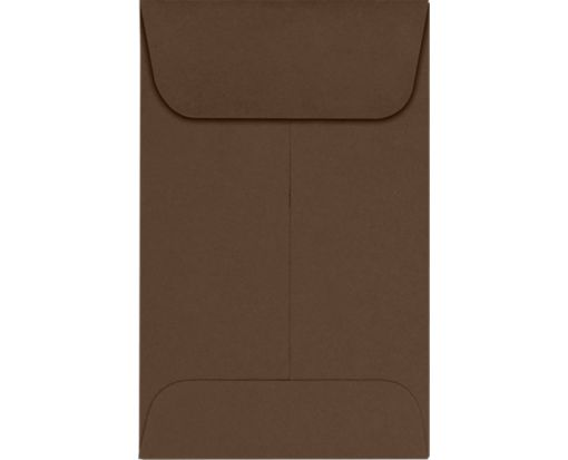 #1 Coin Envelopes (2 1/4 x 3 1/2) Chocolate