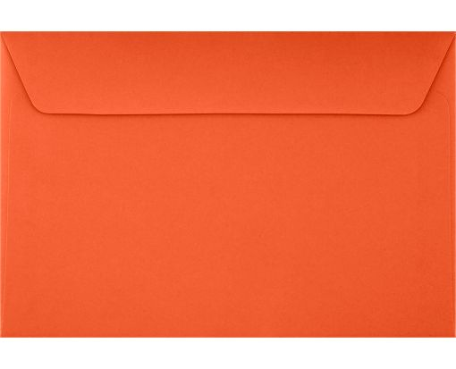 6 x 9 Booklet Envelopes Tangerine