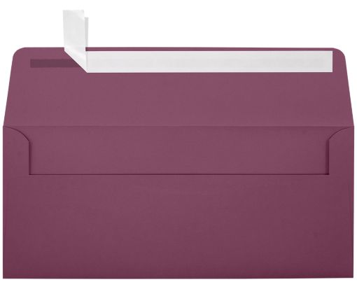 #10 Square Flap Invitation Envelopes (4 1/8 x 9 1/2) Vintage Plum