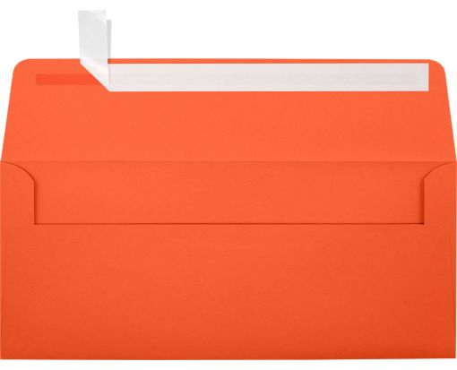 #10 Square Flap Envelopes (4 1/8 x 9 1/2) Tangerine