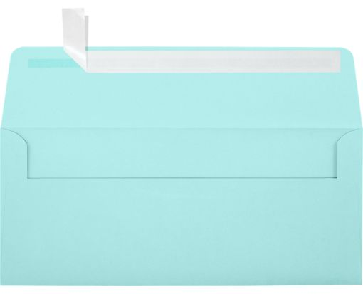 #10 Square Flap Envelopes (4 1/8 x 9 1/2) Seafoam