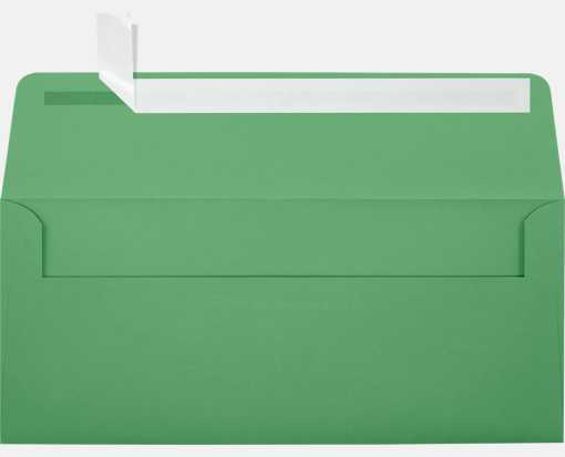 #10 Square Flap Envelopes (4 1/8 x 9 1/2) Holiday Green