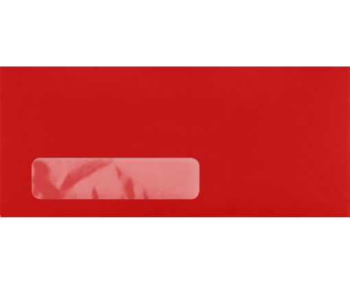 #10 Window Envelopes (4 1/8 x 9 1/2) Ruby Red