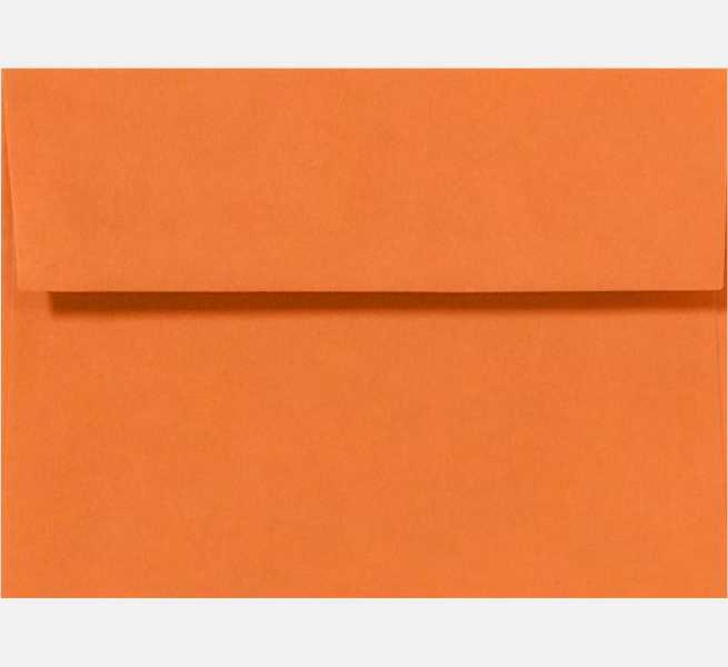 mandarin orange a4 envelopes square flap 4 1 4 x 6 1 4