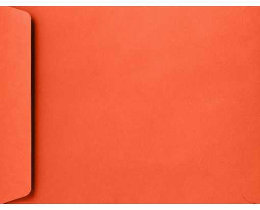 9 x 12 Open End Envelopes Tangerine