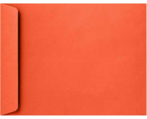 10 x 13 Open End Envelopes Tangerine
