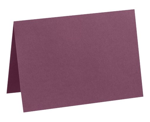 A7 Folded Card (5 1/8 x 7) Vintage Plum