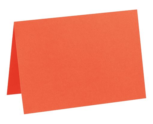 A7 Folded Card (5 1/8 x 7) Tangerine