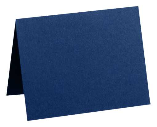 #17 Mini Folded Card (2 9/16 x 3 9/16) Navy