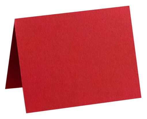 #17 Mini Folded Card (2 9/16 x 3 9/16) Ruby Red