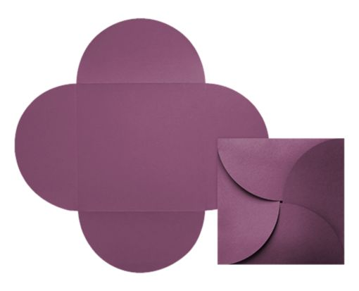 6 1/4 x 6 1/4 Petal Invitations Vintage Plum