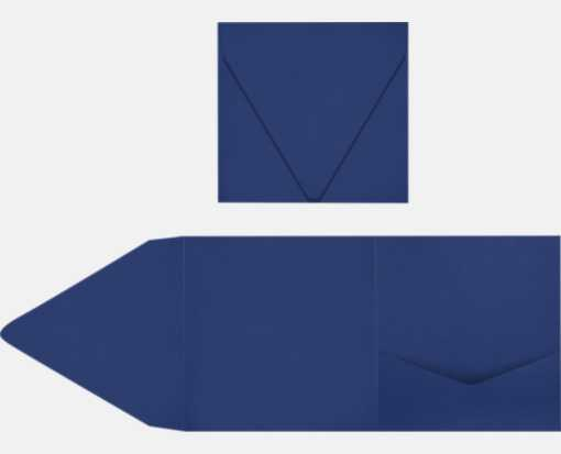 6 x 6 Pocket Invitations Navy
