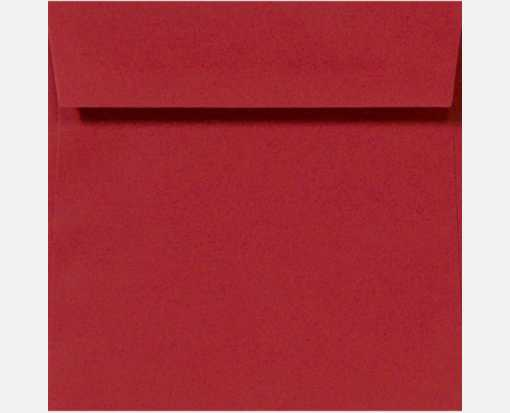 5 3/4 x 5 3/4 Square Ruby Red