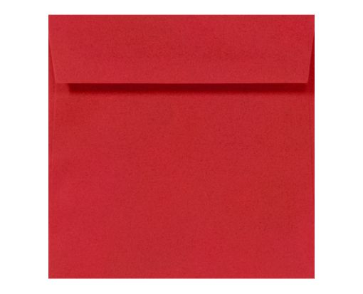 6 1/4 x 6 1/4 Square Ruby Red