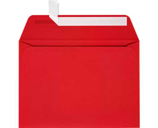 A7 Full Face Window Envelopes Ruby Red