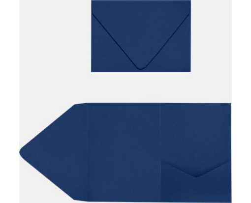 A7 Pocket Invitations Navy