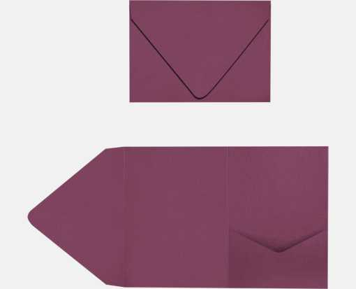 A7 Pocket Invitations Vintage Plum